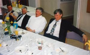 Bröderna på äldre dar. Benny, Kenth, Ove, Pappa.